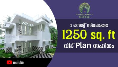 Photo of 1250 Sq Ft 3BHK Modern Two-Storey House at 4 Cent Plot, Free Plan, 21 Lacks