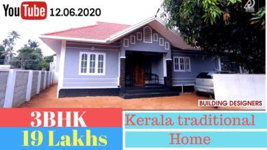 Photo of 1256 Sq Ft 3BHK Single Floor Kerala Style House, 19 Lacks