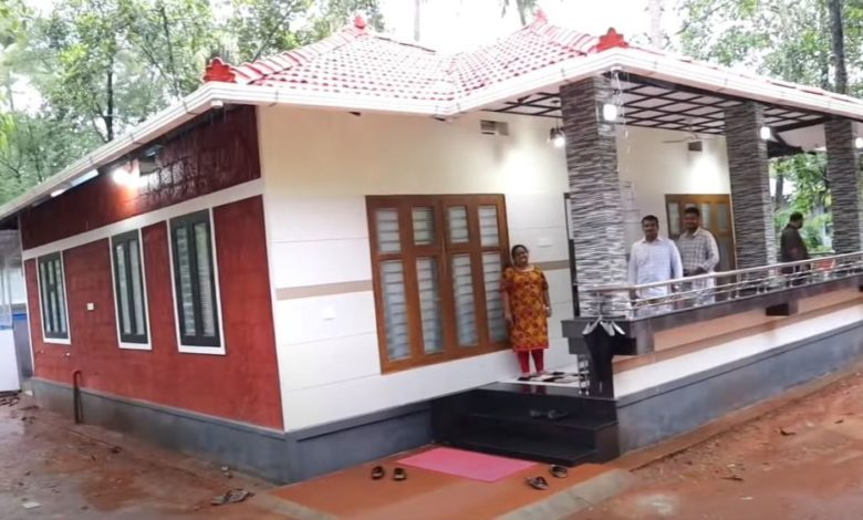 1300 Sq Ft 2BHK Kerala Style Low Budget House, 10 Lacks