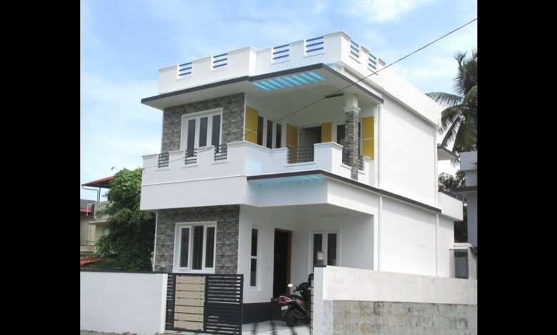 1300 Sq Ft 3BHK Two-Storey Modern House at 2.250 Cent Plot