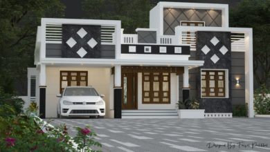 Photo of 1398 Sq Ft 3BHK Contemporary Style Single-Storey House Design