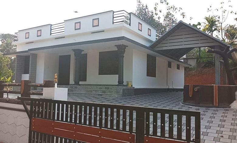 1400 Sq Ft 3BHK Beautiful Single Floor House at 9.50 Cent Plot