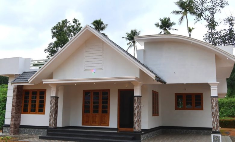 1450 Sq Ft 3BHK Contemporary Style Single-Storey House at 10 Cent Plot