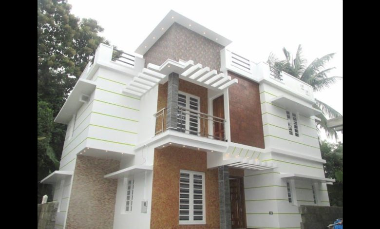 1450 Sq Ft 4BHK Modern Double Floor House at 3 Cent Plot