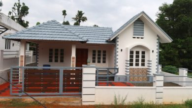Photo of 1500 Sq Ft 3BHK Traditional Style Slope Roof Type House at 6 Cent Plot