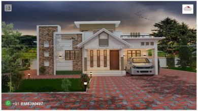 Photo of 1530 Sq Ft 3BHK Contemporary Style Single-Storey House and Free Plan