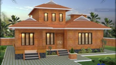 Photo of 1540 Sq Ft 3BHK Traditional Style Single Floor House and Free Plan