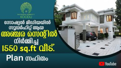 Photo of 1550 Sq Ft 3BHK Modern Two Storey House at 5.5 Cent Plot, Free Plan