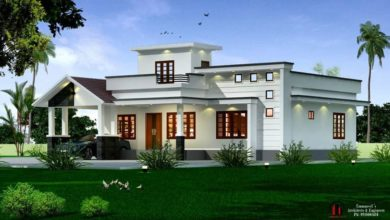Photo of 1600 Sq Ft 3BHK Contemporary Style Single-Storey House and Free Plan