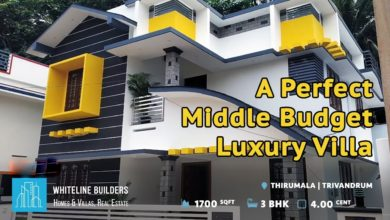 Photo of 1700 Sq Ft 3BHK Contemporary Style Two-Storey House at 4 Cent Land