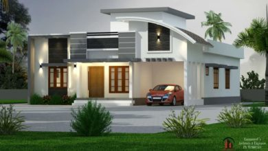 Photo of 1750 Sq Ft 3BHK Contemporary Style Single-Storey House and Free Plan