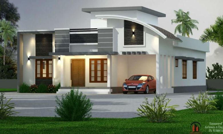 1750 Sq Ft 3BHK Contemporary Style Single-Storey House and Free Plan