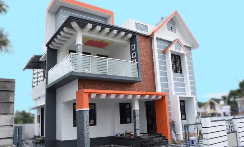 1750 Sq Ft 3BHK Contemporary Style Two-Storey House at 5 Cent Plot