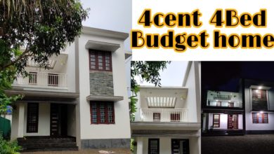 Photo of 1800 Sq Ft 4BHK Modern Two-Storey House at 4 Cent Plot, Free Plan