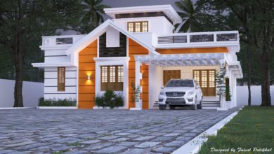 Photo of 1900 Sq Ft 2BHK Contemporary Style Single-Storey House Design