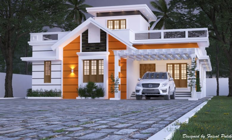 1900 Sq Ft 2BHK Contemporary Style Single-Storey House Design