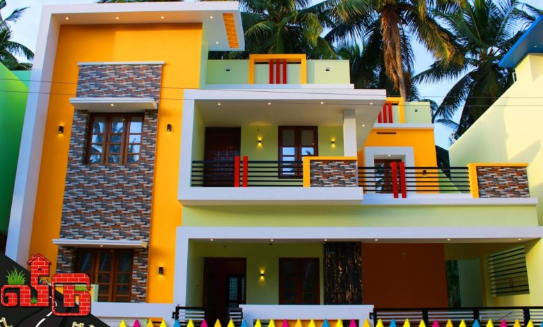 1900 Sq Ft 3BHK Modern Flat Roof Type House at 2.45 Cent Plot