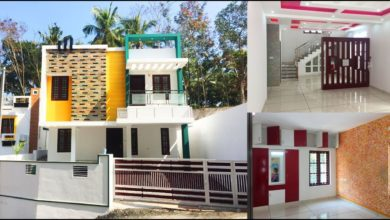 Photo of 2200 Sq Ft 4BHK Contemporary Style Double Floor House at 4.7 Cent Land
