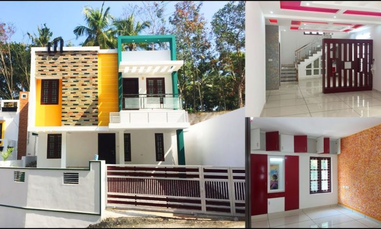 2200 Sq Ft 4BHK Contemporary Style Double Floor House at 4.7 Cent Land