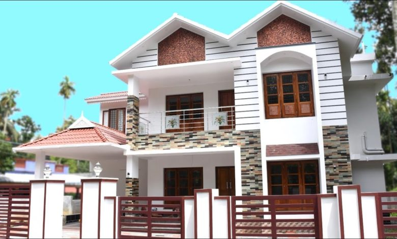 2300 Sq Ft 4BHK Traditional Style Two-Storey House at 10 cent Plot