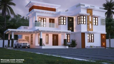 Photo of 2337 Sq Ft 5BHK Contemporary Flat Roof Two-Storey House Design