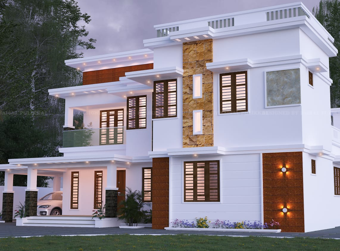 2337 Sq Ft 5bhk Contemporary Flat Roof Two Storey House Design 3 Home Pictures