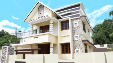 Photo of 2400 Sq Ft 4BHK Contemporary Two-Storey House at 9.5 Cent Plot