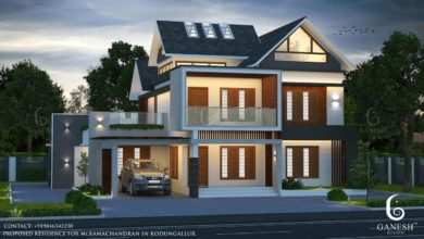 Photo of 2440 Sq Ft 4BHK Colonial-Contemporary Mix Style House and Free Plan