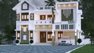 Photo of 2471 Sq Ft 5BHK Contemporary Style Two-Storey House Design