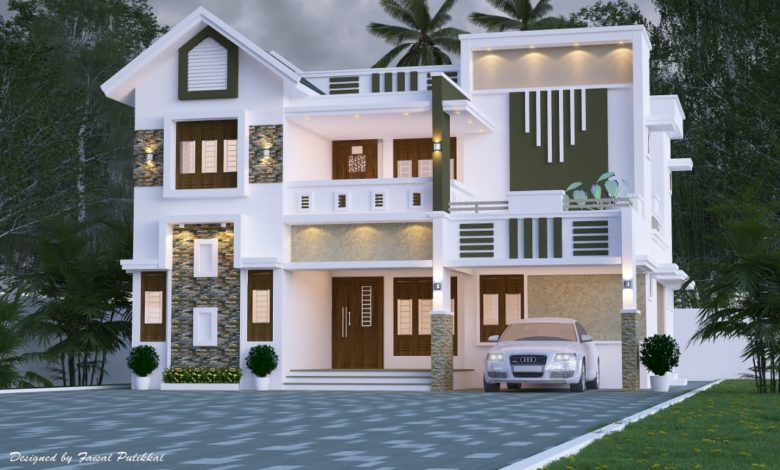 2471 Sq Ft 5BHK Contemporary Style Two-Storey House Design