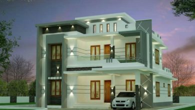 Photo of 2612 Sq Ft 4BHK Contemporary Style Two-Storey House and Free Plan