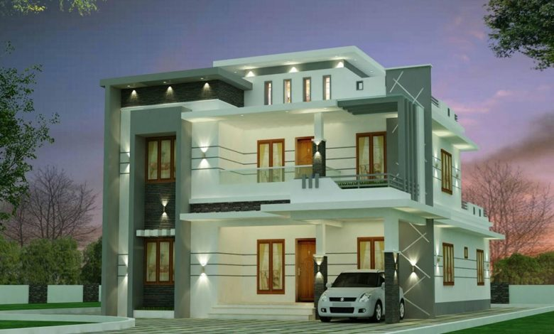 2612 Sq Ft 4BHK Contemporary Style Two-Storey House and Free Plan