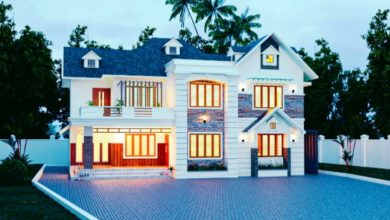 Photo of 2700 Sq Ft 4BHK Colonial Style Two-Storey House and Free Plan