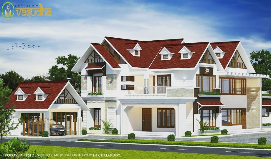 3000 Sq Ft 4BHK Colonial Style Two-Storey House and Free Plan