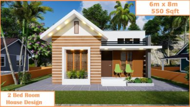 Photo of 550 Sq Ft 2BHK Modern and Beautiful Single-Storey House Design