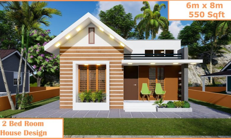 550 Sq Ft 2BHK Modern and Beautiful Single-Storey House Design