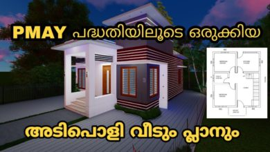 Photo of 598 Sq Ft 2BHK PMAY Scheme Modern Single-Storey House and Free Plan