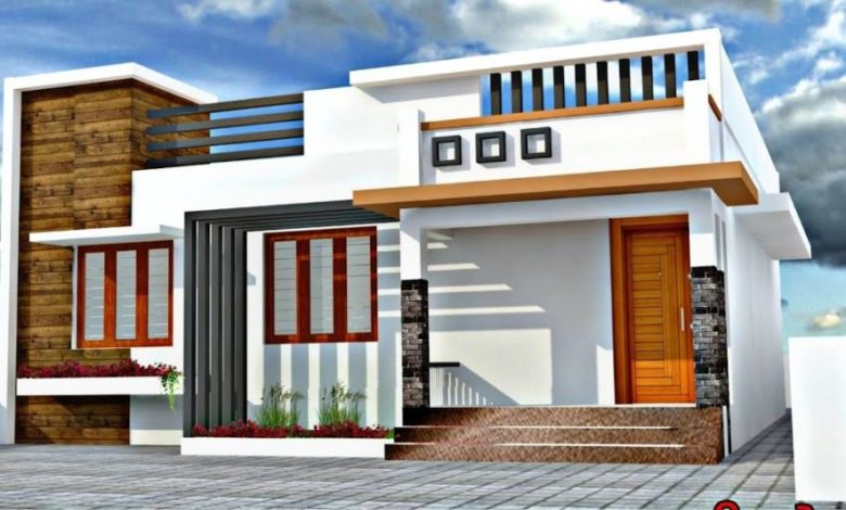 650 Sq Ft 2BHK Contemporary Style Single-Storey House and Plan, 8 Lacks