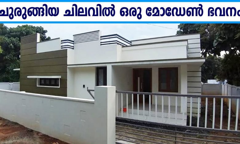 700 Sq Ft 2BHK Modern Single Floor House at 5 Cent, Free Plan