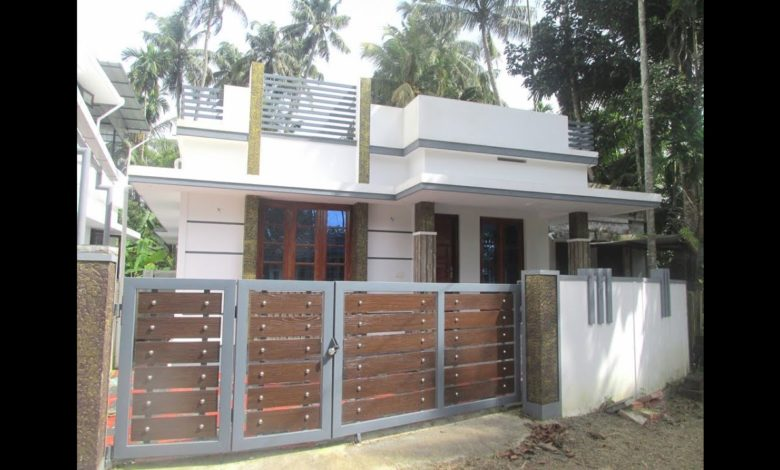 742 Sq Ft 2BHK Single Floor Modern House at 3 Cent Land