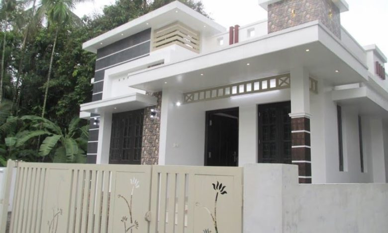 750 Sq Ft 3BHK Modern Single-Storey House at 3 Cent Plot