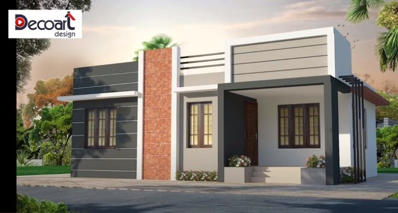 784 Sq Ft 3BHK Simple Single Floor House and Free Plan, 10 Lacks