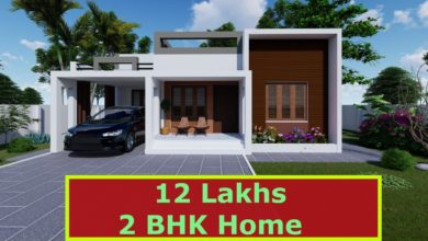 Photo of 800 Sq Ft 2BHK Fusion Style Single-Storey House and Free Plan, 12 Lacks
