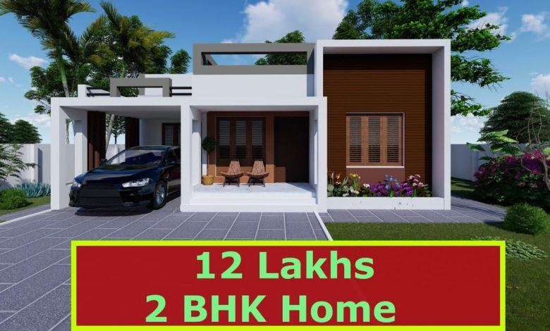 800 Sq Ft 2BHK Fusion Style Single-Storey House and Free Plan, 12 Lacks
