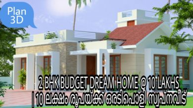 Photo of 800 Sq Ft 2BHK Mixed Roof Single-Storey House and Free Plan, 10 Lacks