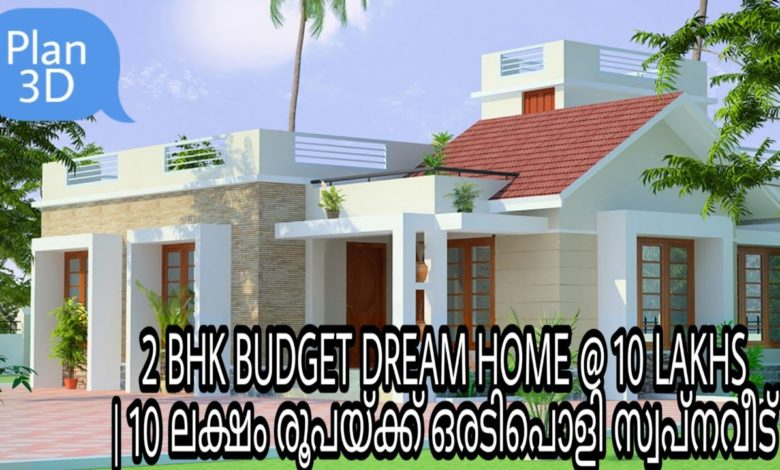 800 Sq Ft 2BHK Mixed Roof Single-Storey House and Free Plan
