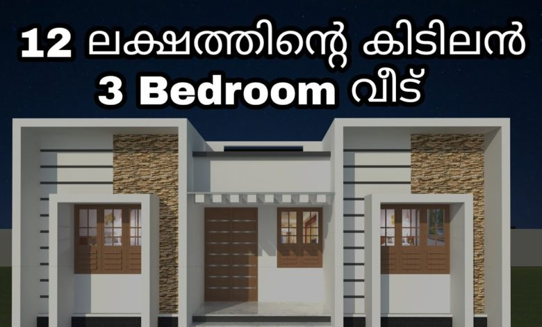 829 Sq Ft 3BHK Modern Contemporary Single-Storey House and Free Plan (1)