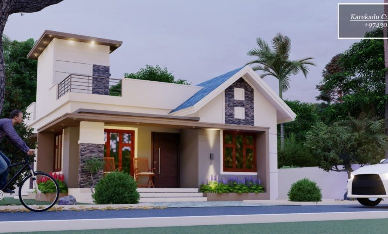 1030 Sq Ft 2BHK Modern Single Floor House and Free Plan
