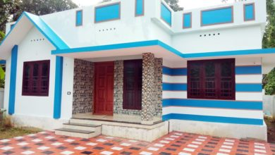 Photo of 1110 Sq Ft 3BHK Beautiful Single Floor House and Free Plan