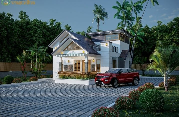 1196 Sq Ft 2BHK Contemporary Style Modern House and Free Plan